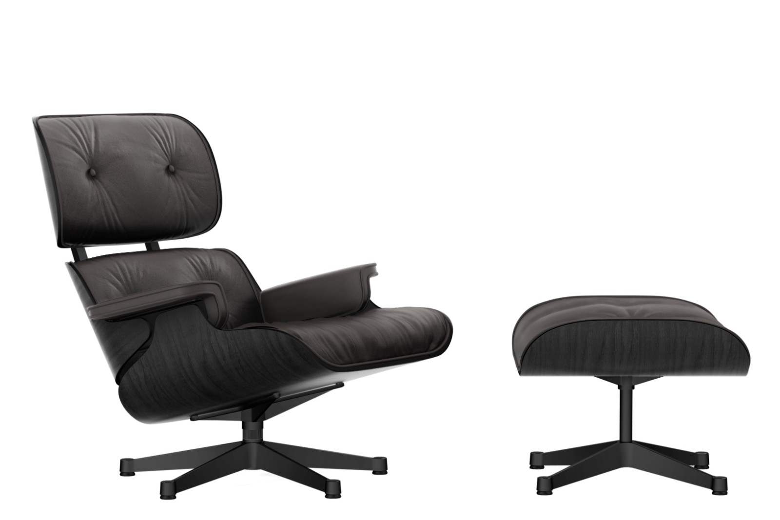 Vitra Eames Lounge Chair Dwg Vitra Eames Lounge Chair Ottoman Black Ash Shell Leather Premium