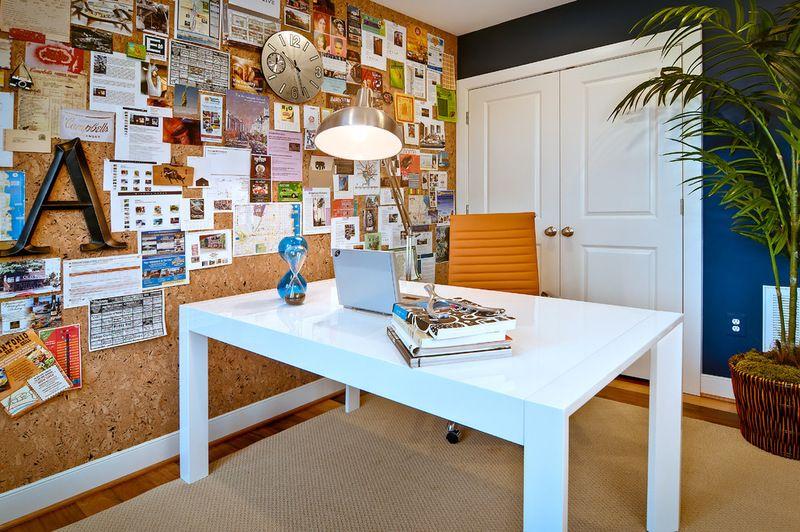 Wandfarbe Arbeitszimmer ~ Pinnwand aus kork modern arbeitszimmer by the neighborhoods of eya