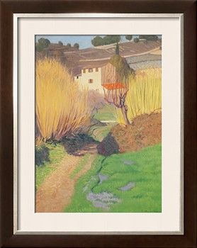 Landscape at Lagnes, 1921 Giclee Print by Felix Edouard Vallotton at Art.com