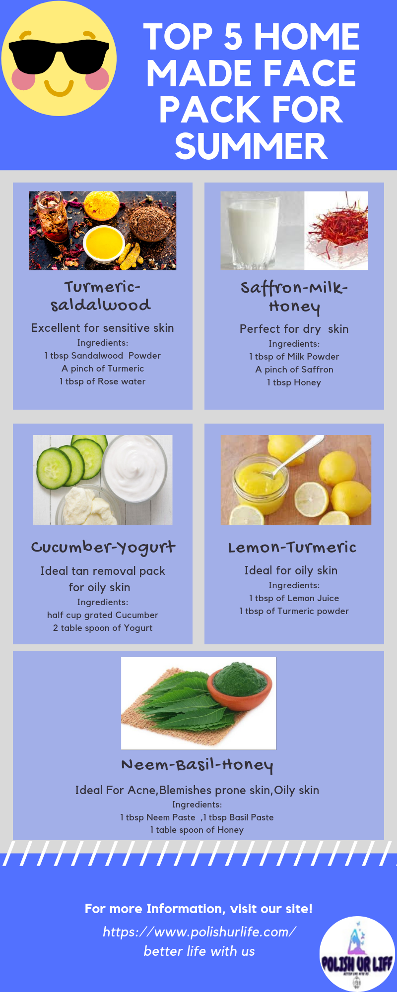 Top 12 Home Made Face Pack For Summer  Natural skincare recipes