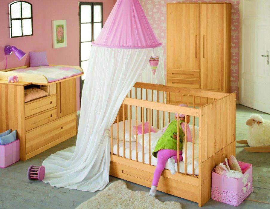 Beautiful Lina Babybett mit Bettkasten x cm Massivholz Erle
