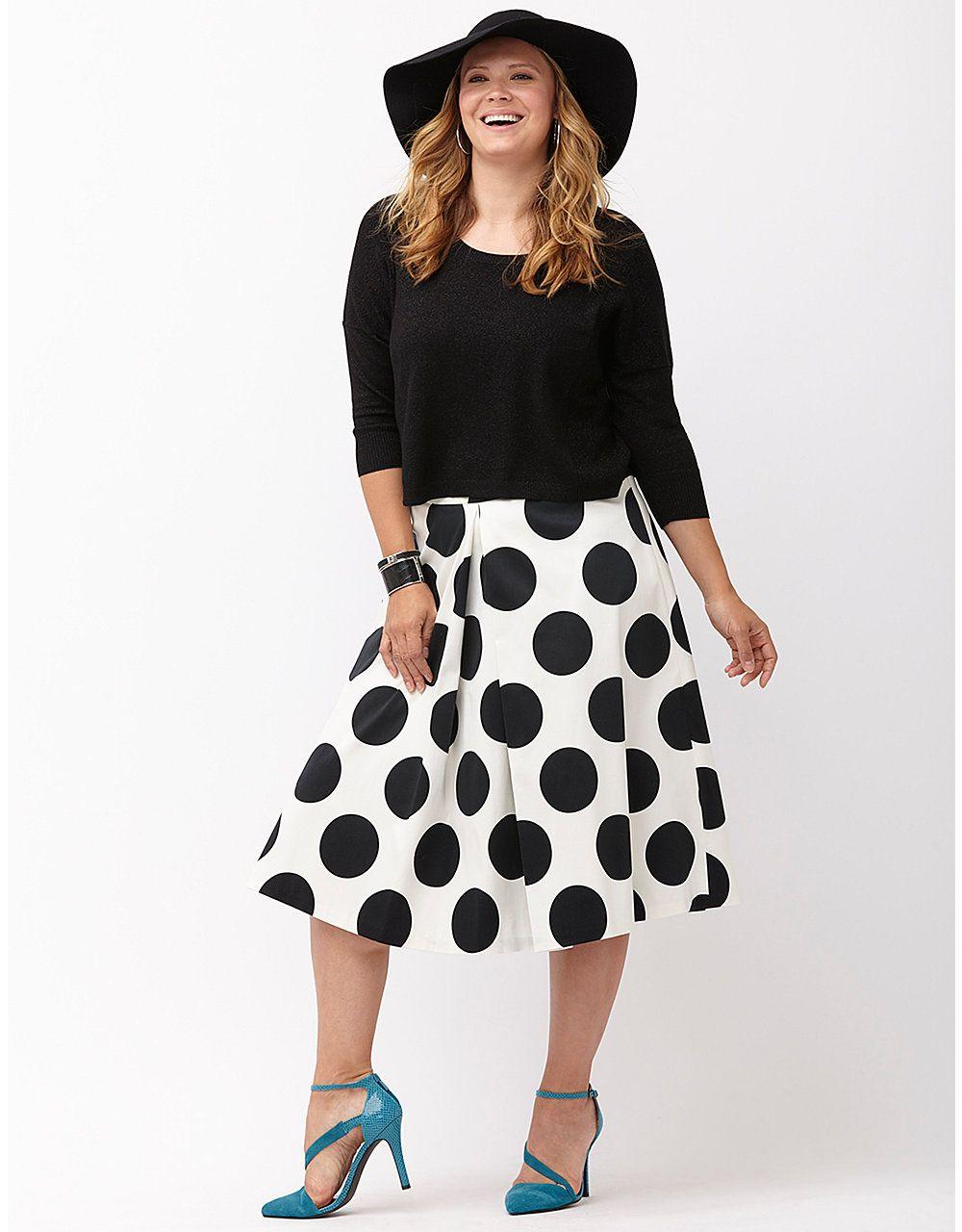 35c54b73ae Polka dot midi skirt by Lane Bryant   Lane Bryant $59.95   My Style ...