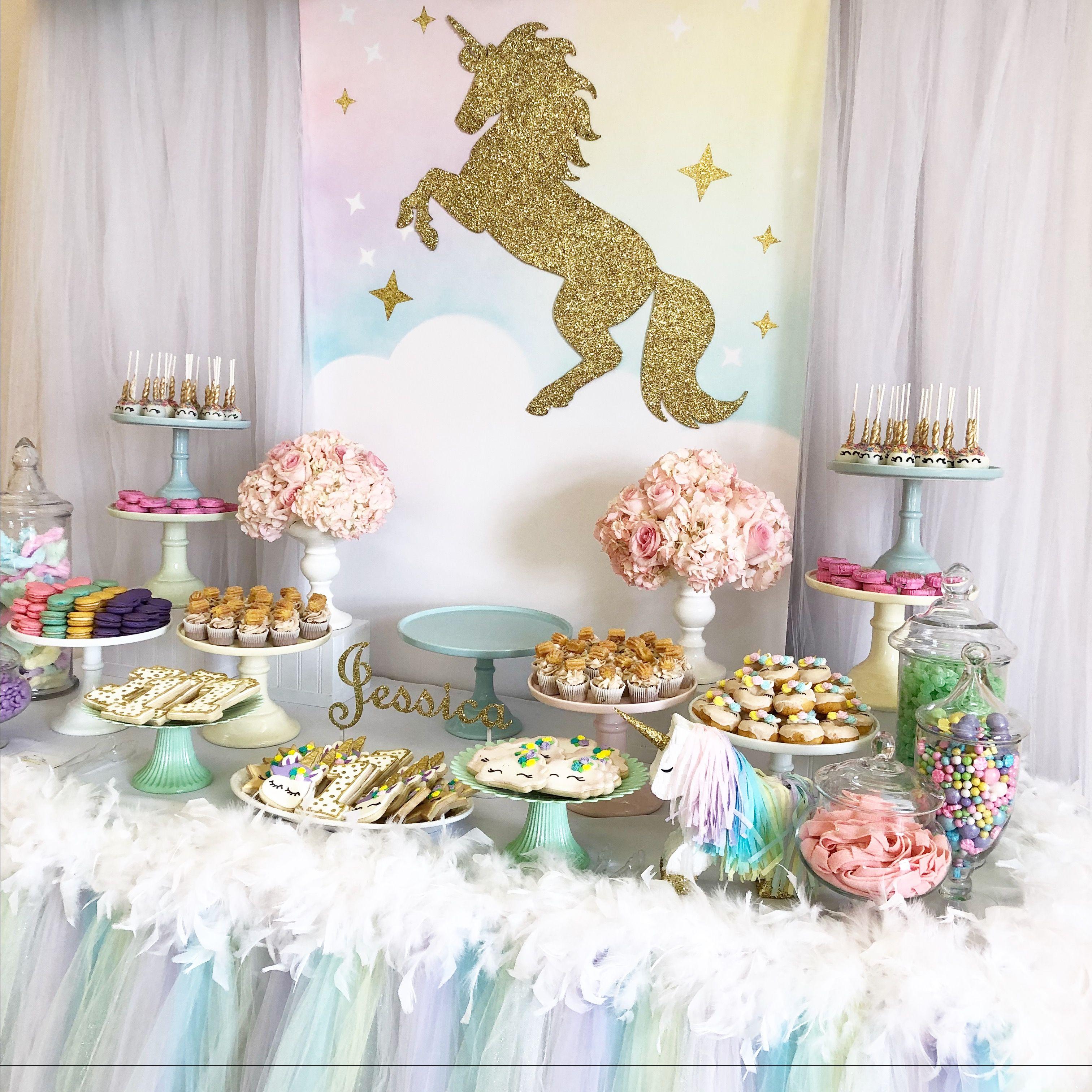Unicorn Candy Buffet By Bizzie Bee Creations Dessertbuffet Snoepbuffet