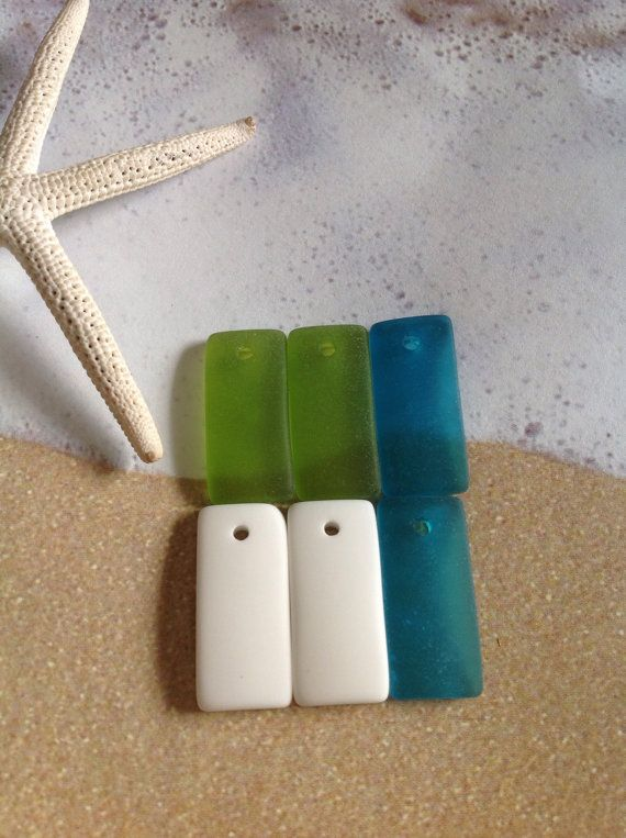 8pc 22x11 sea glass bead drilled rectangle beach glass pendant bead 8pc 22x11 sea glass bead drilled rectangle beach glass pendant bead recycled frosted dangle glass supplies sea glass earrings beach beads aloadofball Choice Image