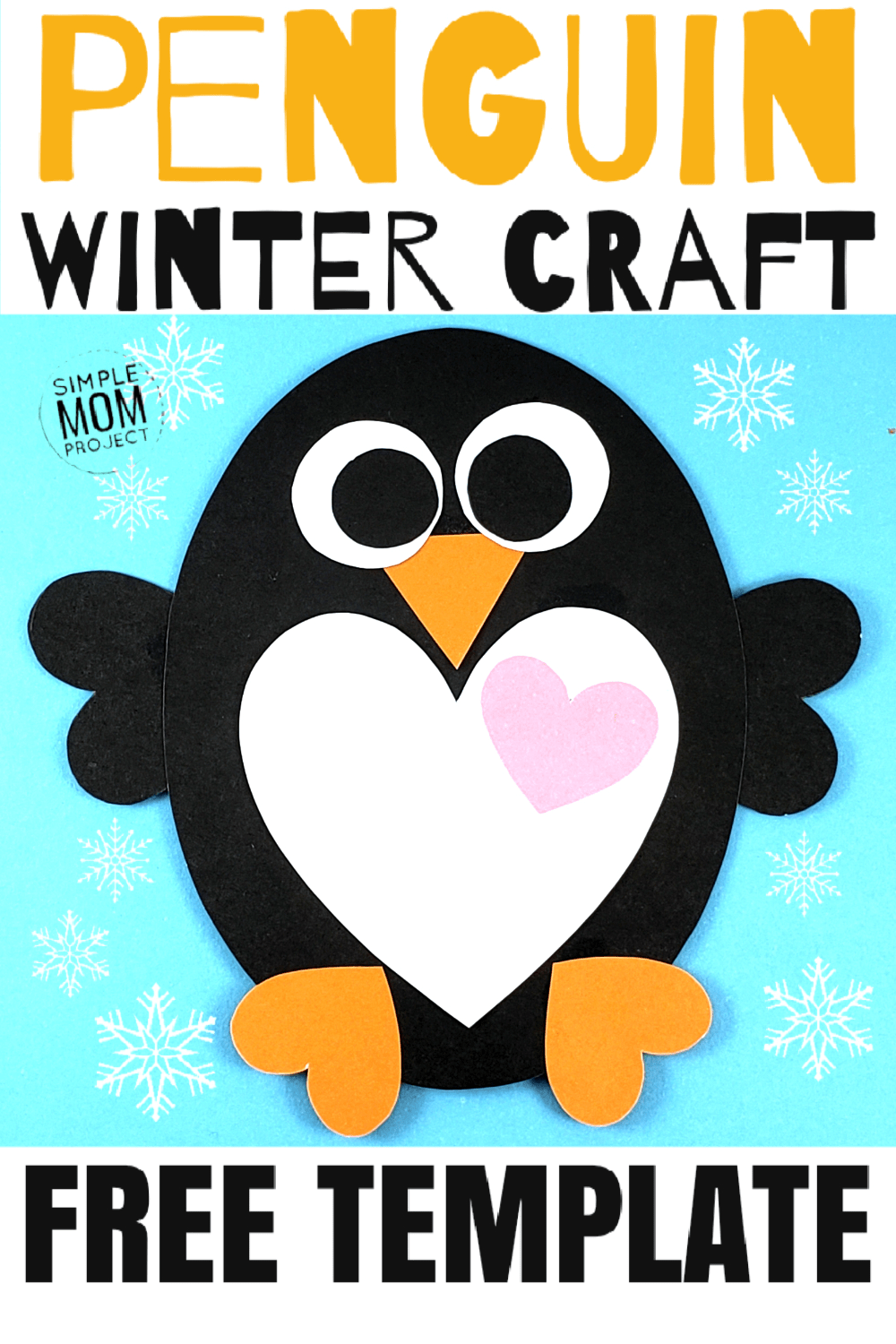 Simple Valentine's Day Penguin Art Project for Kids - Simple Mom Project
