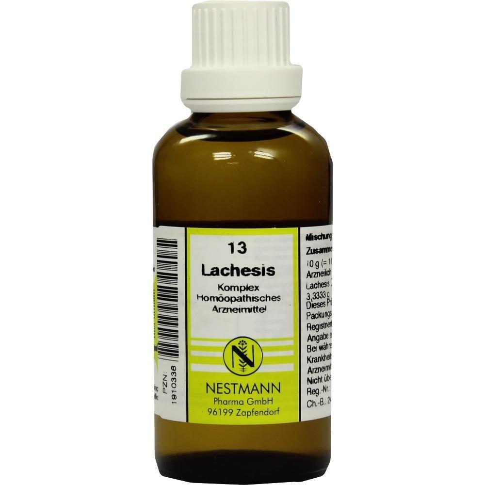 LACHESIS KOMPLEX Nr.13 Dilution:   Packungsinhalt: 50 ml Dilution PZN: 01910336 Hersteller: NESTMANN Pharma GmbH Preis: 7,19 EUR inkl. 19…