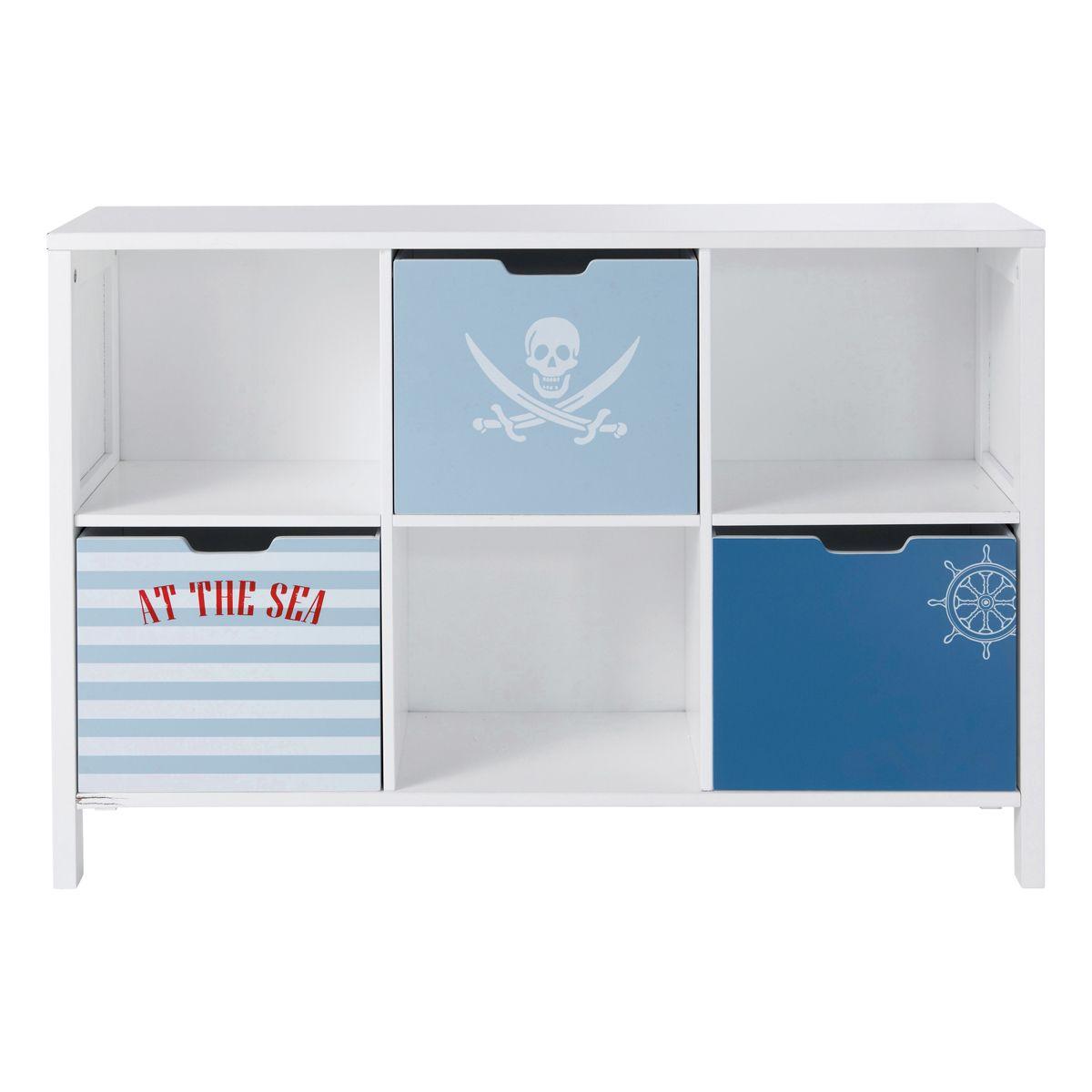 Cabinet bibliothèque enfant Pirate   déco   Pinterest