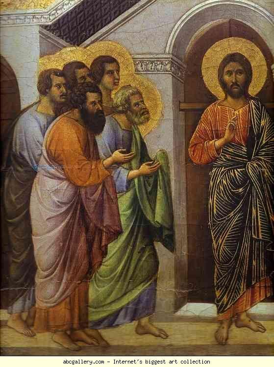 Duccio Di Buoninsegna Maest 224 Back Crowning Panel