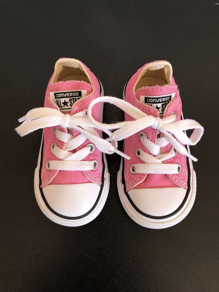 fcb49555ac687e  ad Baby Toddler Girls Pink Converse Shoes Size 5 http   rover.
