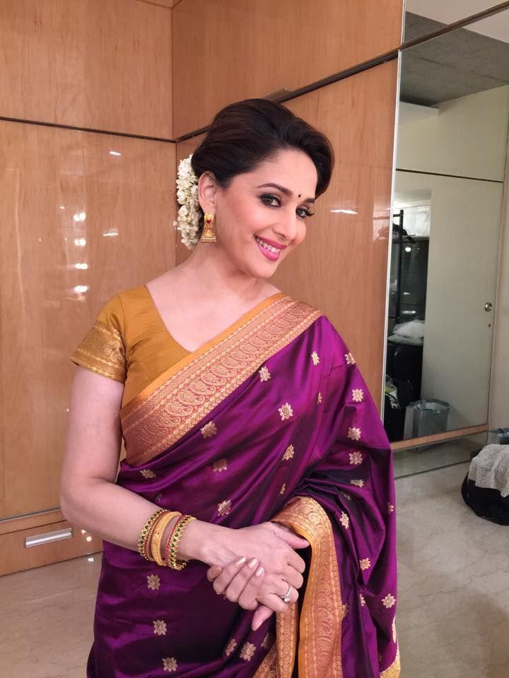MADHURI DIXIT | STARS | Pinterest | Madhuri dixit, Saree ...