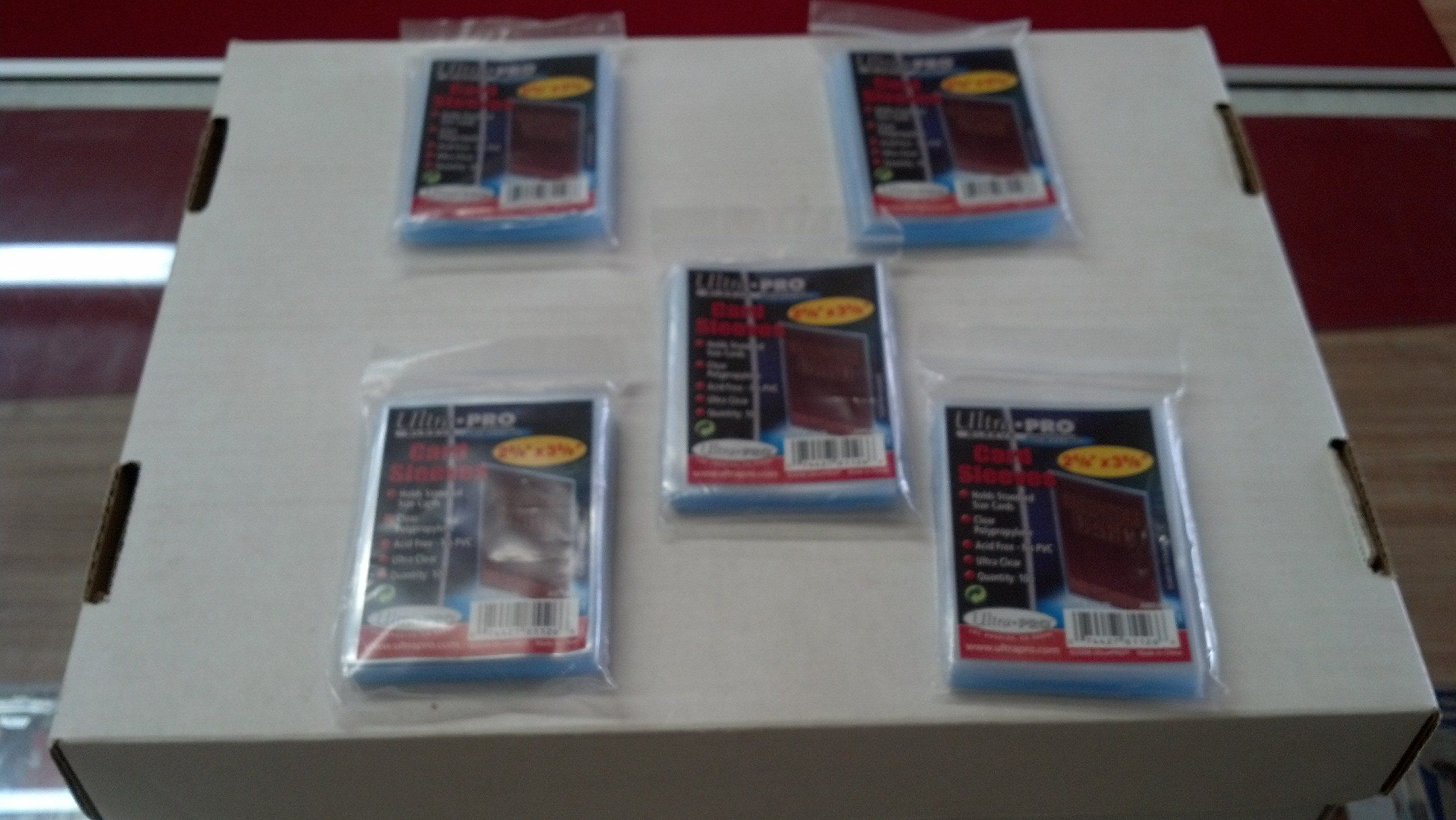 $5.81 500 Ultra Pro Soft Card Sleeves/Penny Sleeves (5 Sealed Packs) - Standard Size 2 5/8 x 3 5/8, NO PVC
