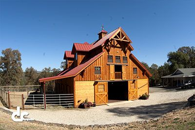 Custom monitor barn in morgan hill california dc for Monitor barn plans with living quarters