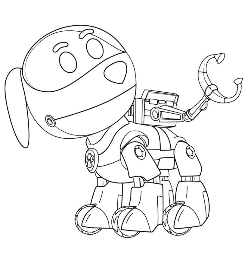 Paw patrol robo dog coloring page