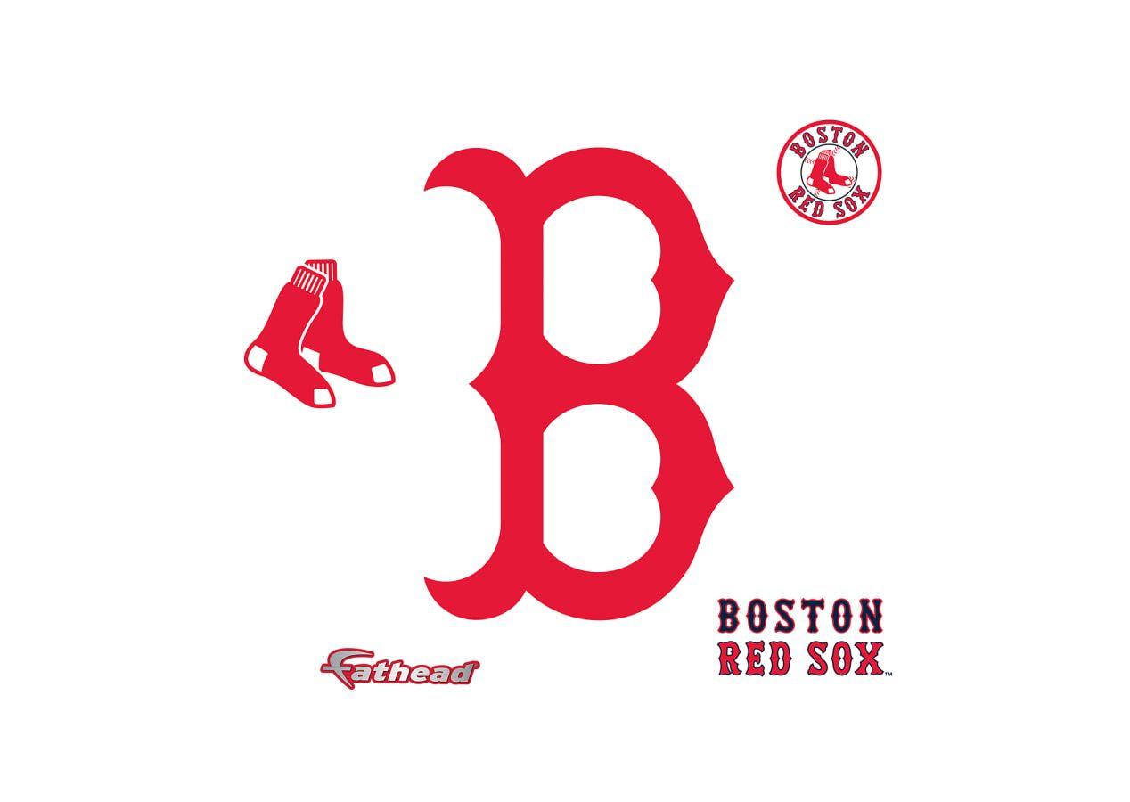Small Boston Red Sox B Logo Teammate Decal Baseball Wall Decal Red Sox Logo Baseball Wall [ 900 x 1268 Pixel ]