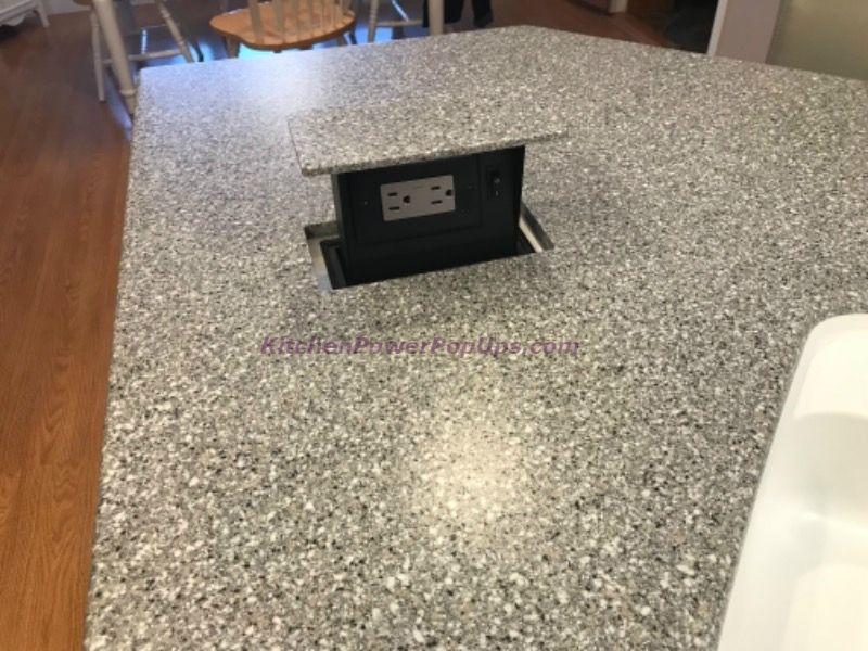 Kitchen Countertop Hidden 2 Power Pop Up Use Your Stone As The Top Pop Up Outlets Power Pop Custom Stone