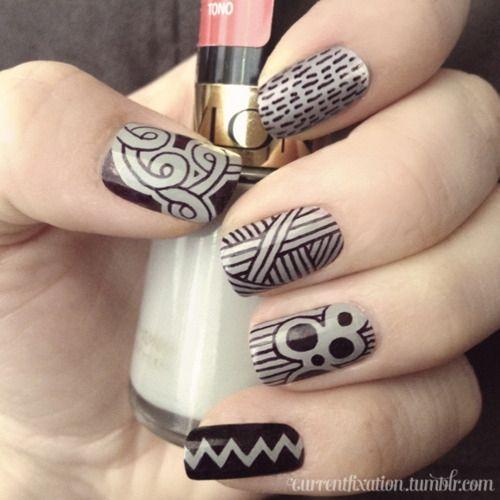 Sharpie nails! nail-art-i-love - Sharpie Nails! Nail-art-i-love Art Pinterest Nail Black, I