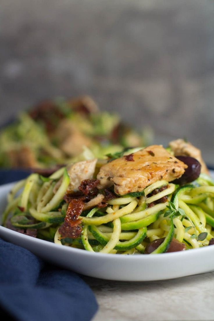 Whole30 Greek Chicken Zucchini Noodles images