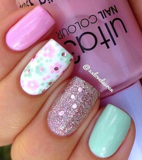 Rosa turquesa | Nails ! | Nail Art, Pastel Nails y Simple ...