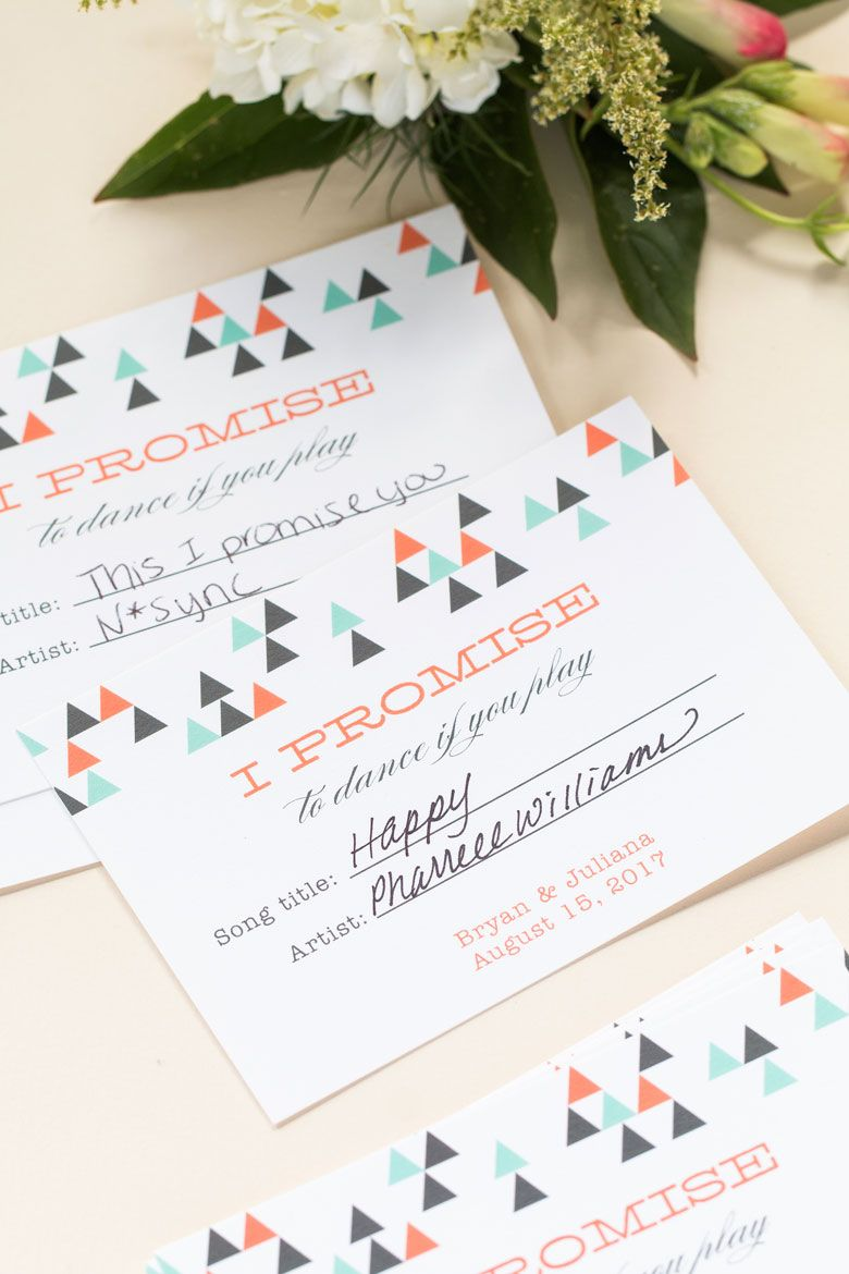 Song Request Cards | Cheap wedding ideas, Favors and Weddings