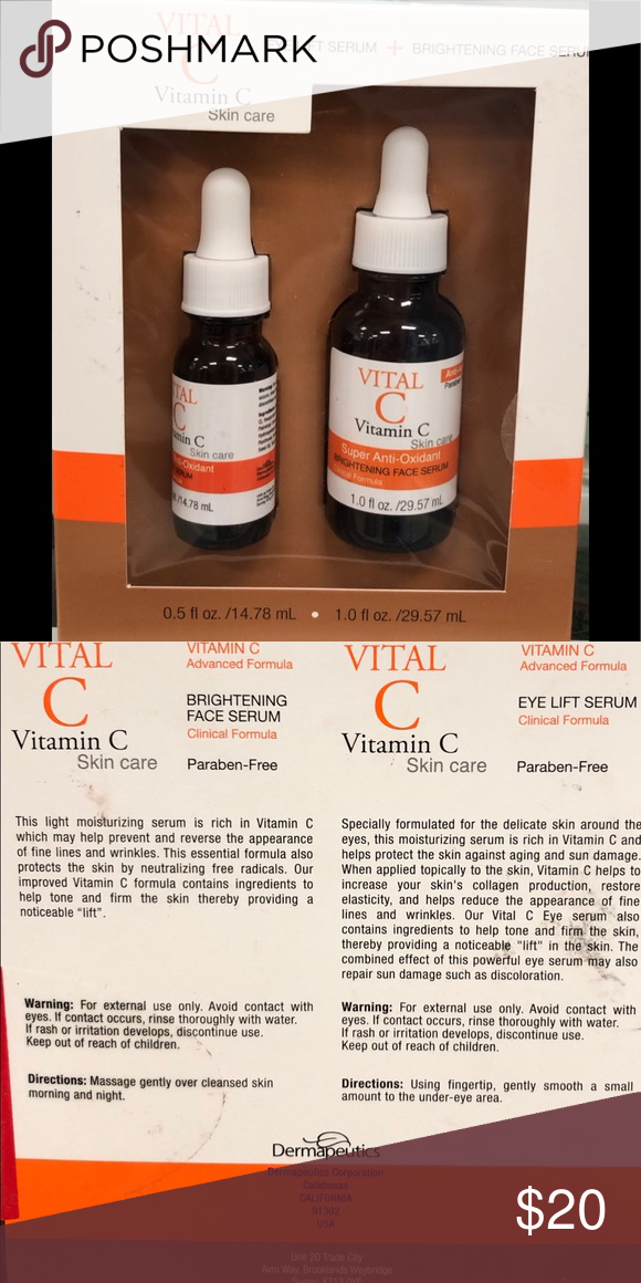 Vital C Vitamin C Eye Lift Serum And Face Serum Vital C Vitamin C Serum For Eyes 0 5 Oz Anti Aging Face Serum Brightening Face Serum Light Moisturizer