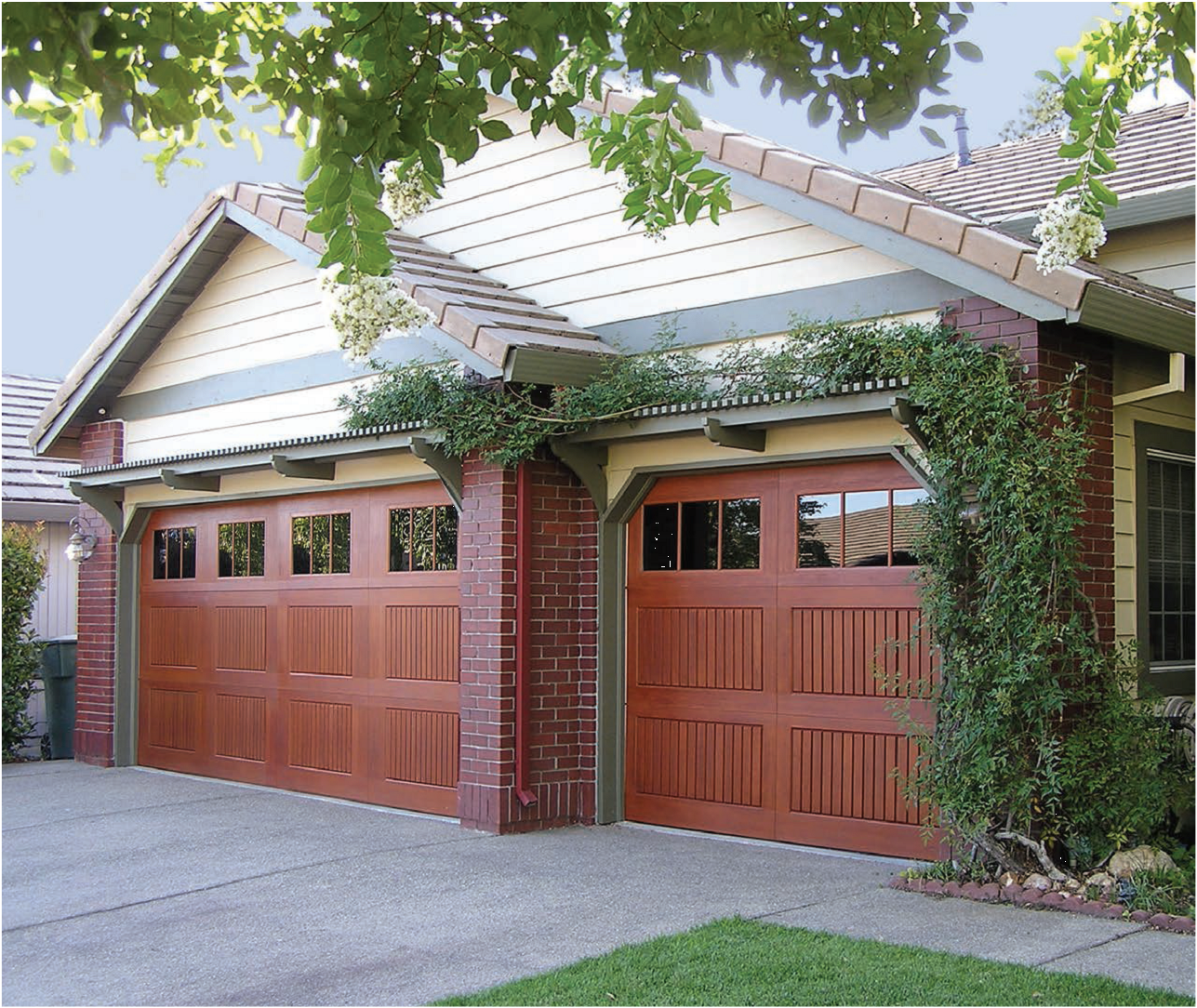woodtone with model door c garage in overhead fiberglass glass doors obscure oak optional i h pin