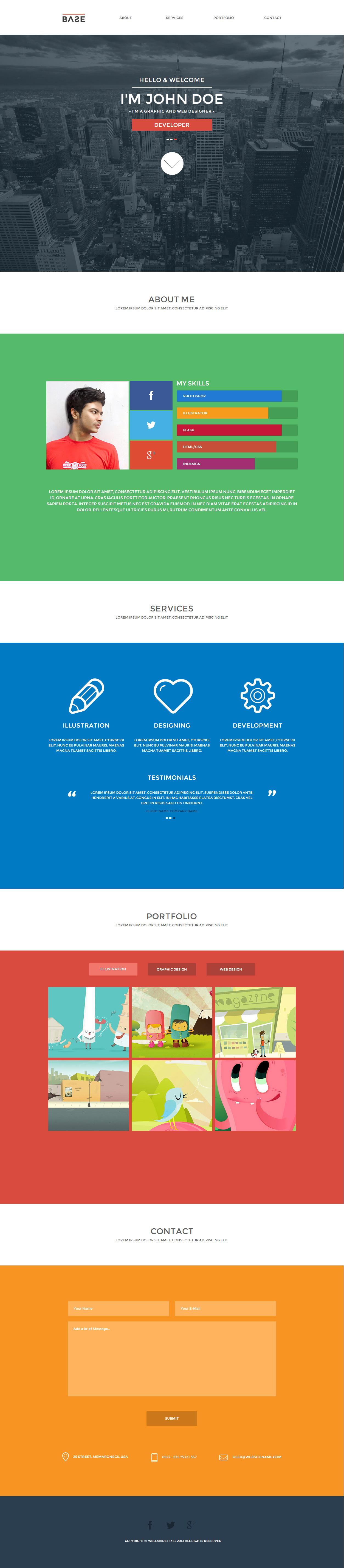 one page portfolio examples
