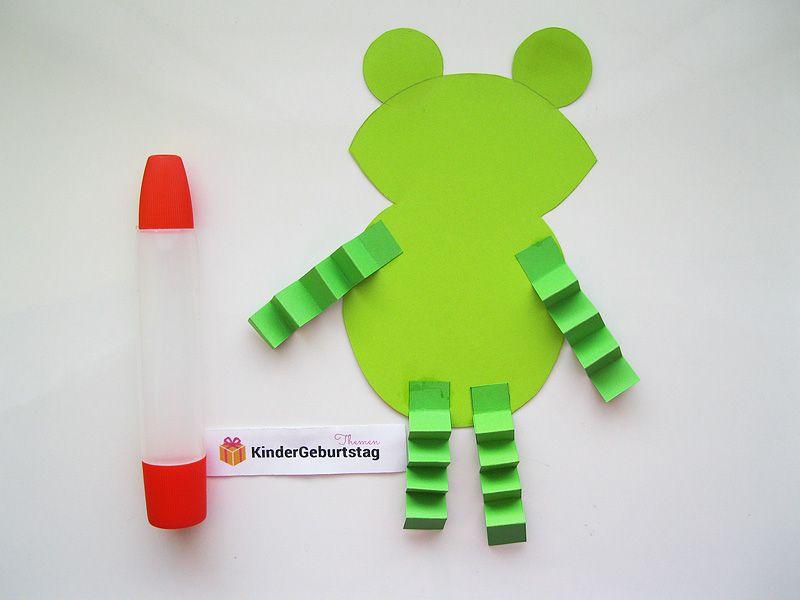 Frosch Basteln Mit Kindern Vorlage Und Anleitung Frosch Basteln Marchen Basteln Basteln