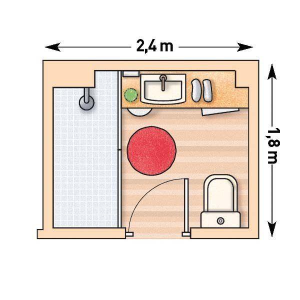 5 Cuartos de baño pequeños con sus planos | Cuartos de ...