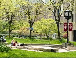 Fordham University Lincoln Center Campus Grounds In Springtime Nyc Fordham University Lincoln Center Civil Service Exam