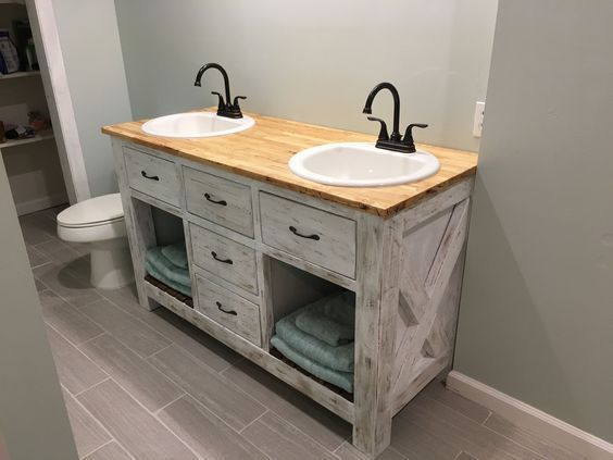 Rustic Bathroom Vanity Do It Yourself Home Projects from Ana White