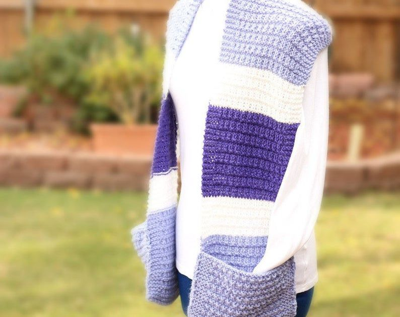 Knitting Pattern for Scarf with Pockets Easy to Knit ...