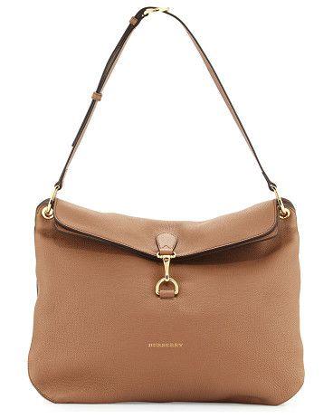 66379df63482 Cornwall medium derby shoulder bag by Burberry. Burberry medium shoulder bag  in derby leather.