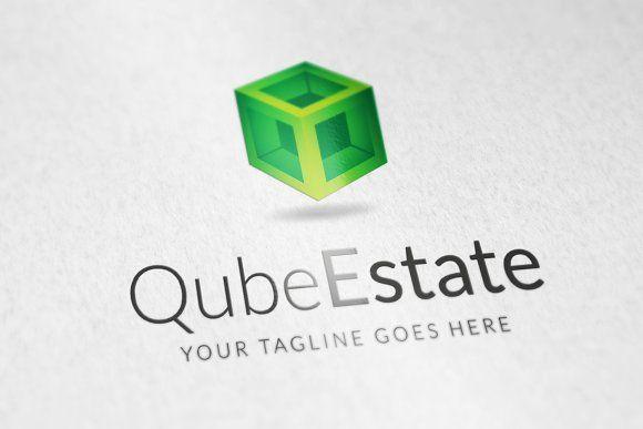 Qube Estate logo by vectorlogos89 on @creativemarket
