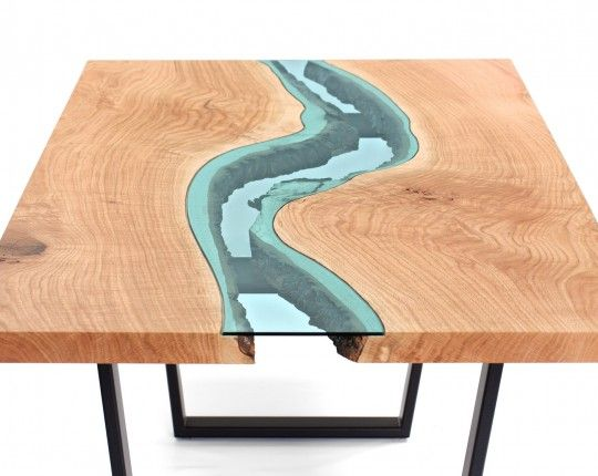 oak river dining table 1 mesas rusticas pinterest rivers trunk furniture and live edge wood. Black Bedroom Furniture Sets. Home Design Ideas