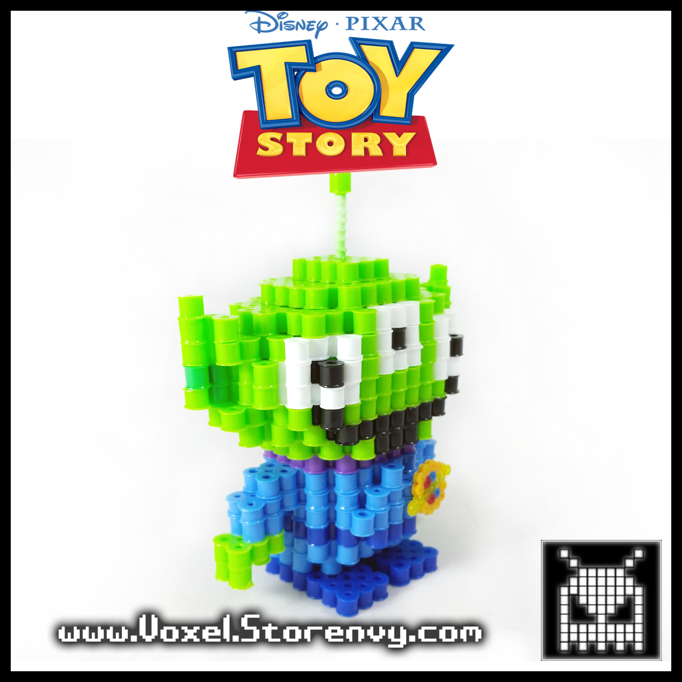 Voxel | Toy Alien Voxel Perlerbead (#Toystory #Disney) | Online Store Powered by Storenvy