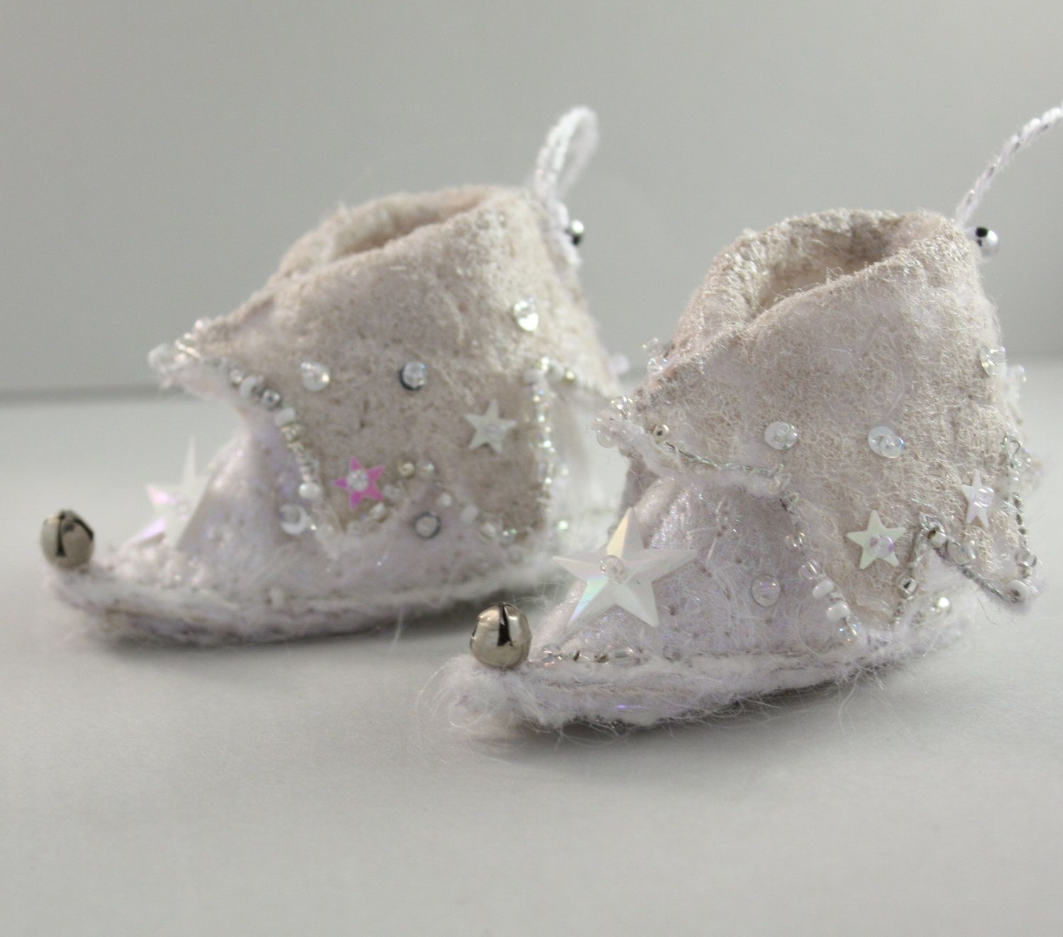 fairy shoes Elf Boot Christmas Ornament Snow White Ice ...