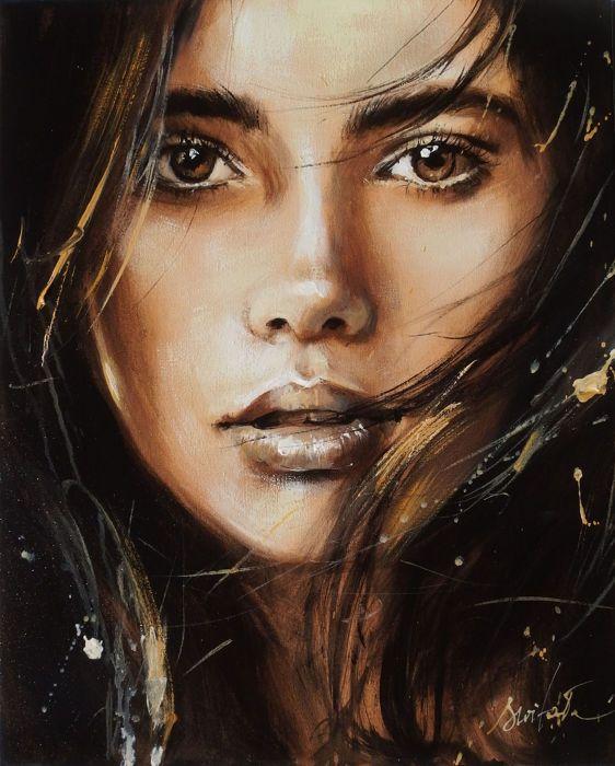 Schöne Frau Porträt Kunst Photo Beautiful Junges: Catawiki Online-Auktionshaus: Ewa Switala