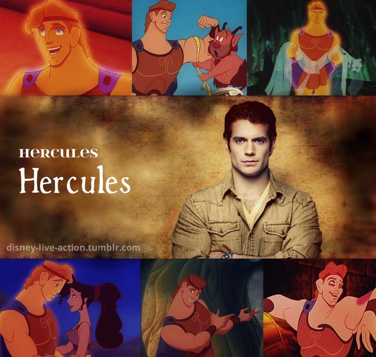 disney liveaction dream cast hercules henry cavill as