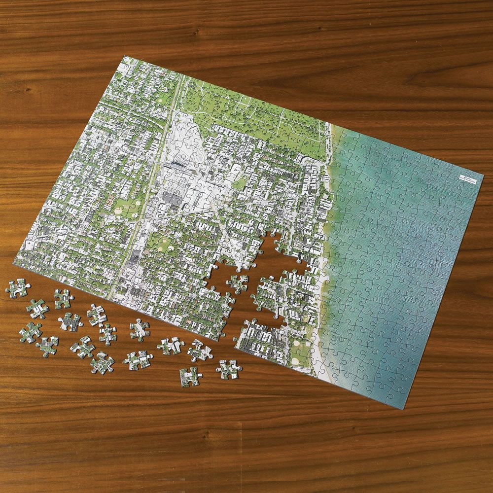 The Personalized Satellite Map Jigsaw Puzzle Hammacher Schlemmer - Satellite map of my location