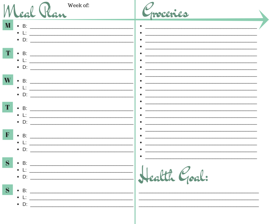 Printable Bullet Journal Meal Planning Layout  EatFlyLove