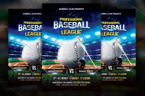 Baseball Flyer Template Flyer template - baseball flyer