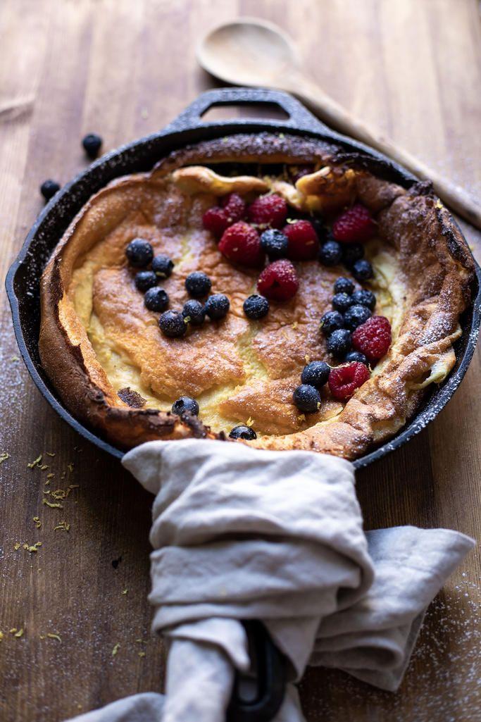 Lemon Zest Dutch Baby | Recipe | Sweet breakfast, Best ...