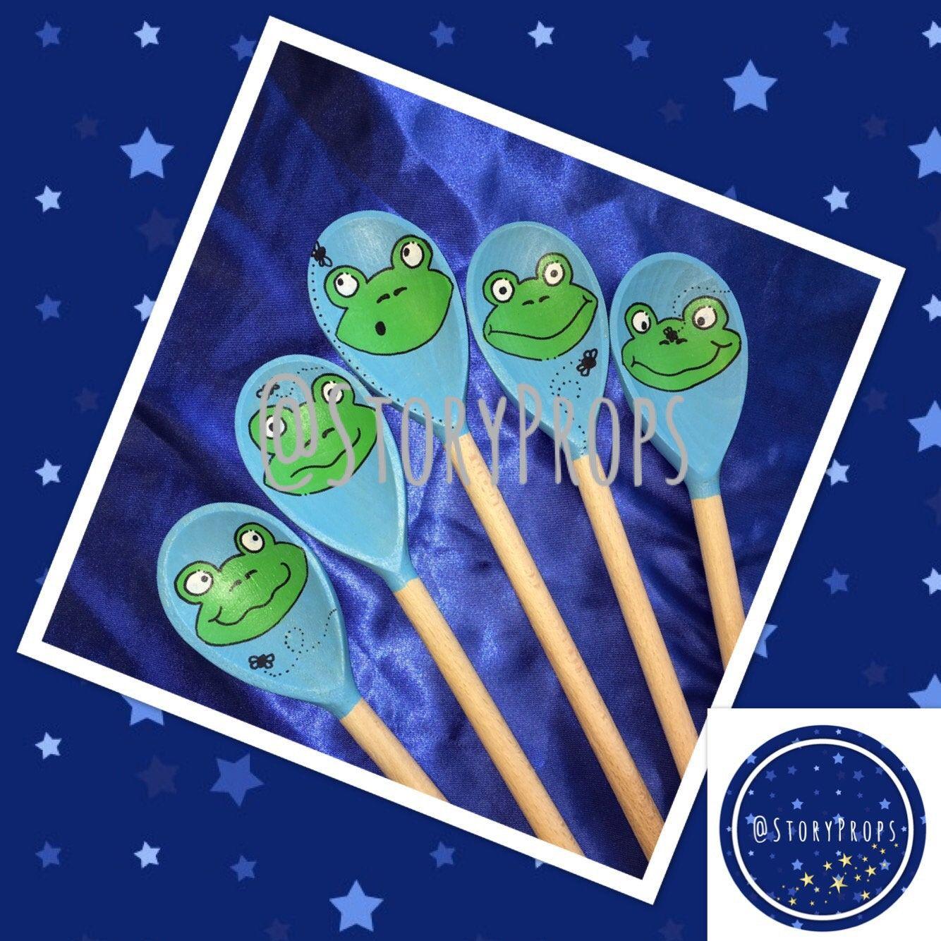 Five Green Amp Speckled Frogs Felt Story Flannel Board Set Baby