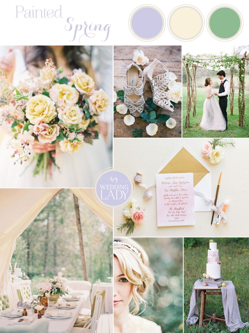 Pastel Watercolor Spring Wedding in Lilac and Sunshine | Lilacs ...