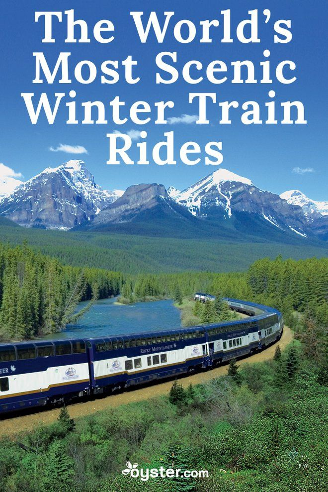 """Few films capture the beauty of winter train travel as the 1974, """"Murder on the Orient Express."""" In it, the seats are covered in red velvet and the scenery outside the windows is filled with snow-dusted mountains and pine trees. Thankfully, there's plenty of gorgeous wintery locomotive travel today. Options are available around the world, from historic re-creations that will take you back to the early 20th century to modern coaches covered in glass to accentuate the view."""