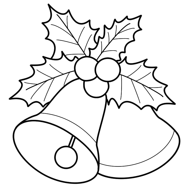 Bells With Mistletoe Coloring Page Christmas Christmas Bells Drawing Christmas Coloring Sheets Christmas Coloring Pages