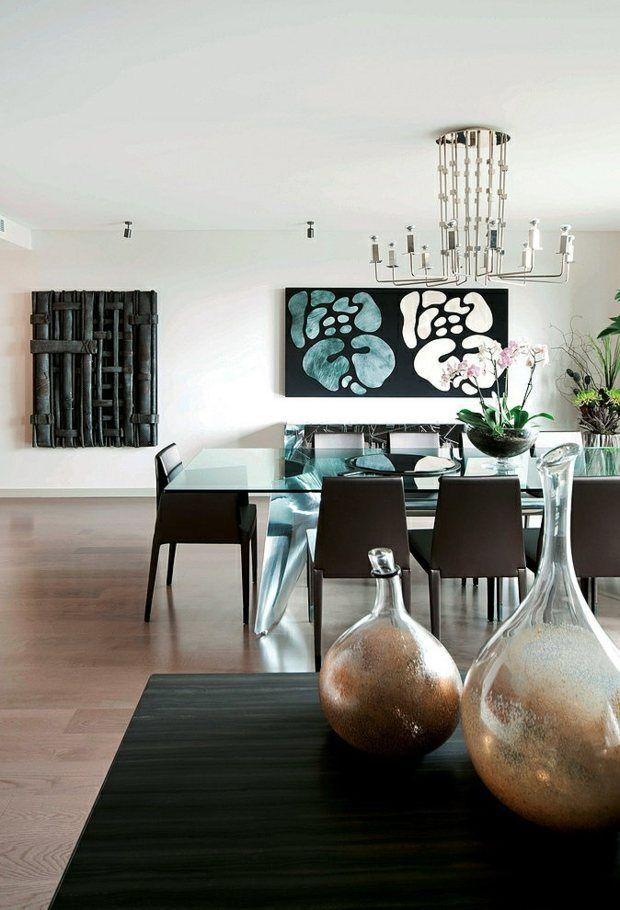 Décoration salle à manger \u2013 107 idées design Salle de séjour - decoration de salle de sejour