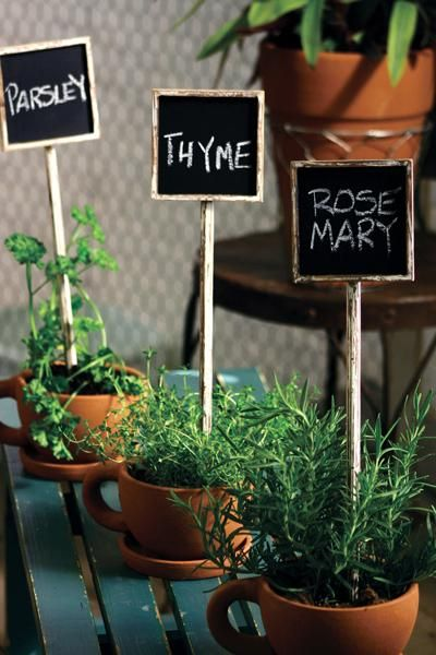 Attrayant Chalkboard Herb Stakes | Garden Stakes | Wedding Décor | Entertaining Party  Décor