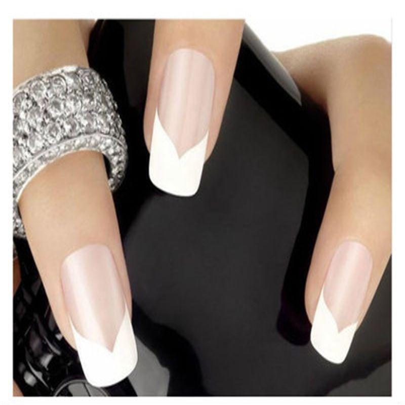 48PCS HOT New Fashion French Manicure Nail Art Decorations Portable ...