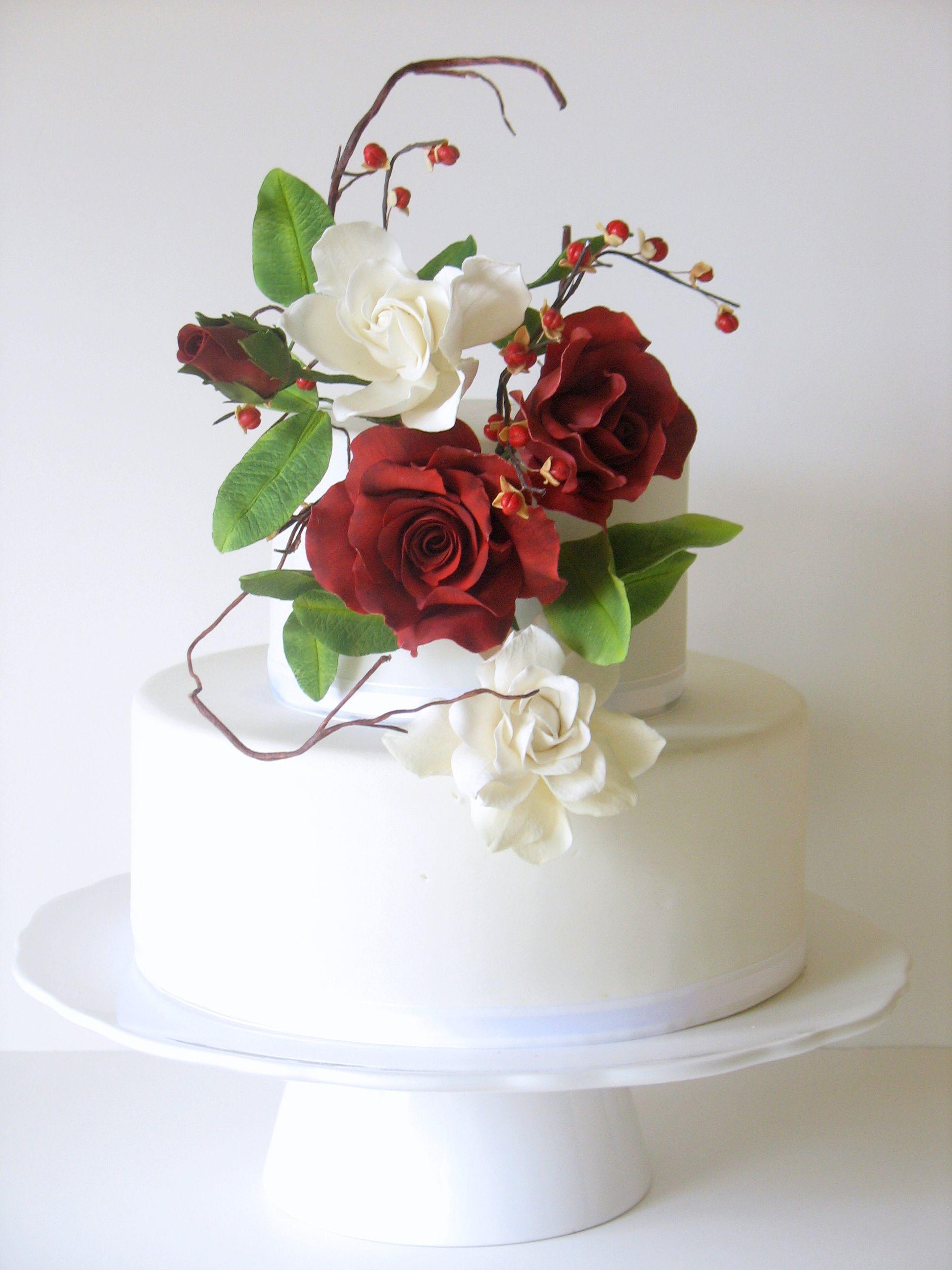 Sugar Flowers Gardenia leaves Gumpaste Gardenia leaves Cake decorating Wedding flowers